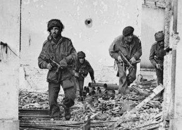 Britse soldaten tijdens Market Garden.