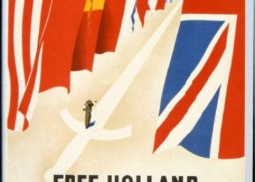Poster: 'Free Holland welcomes the soldiers of the allies.'