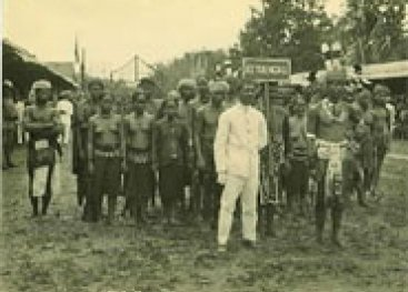 Groepje mensen op Borneo