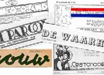 Overzicht van illegale kranten: Trouw, Parool, Vrij Nederland, De Waarheid