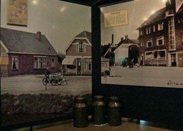 Foto van de wand in het museum met informatie over de stakingen