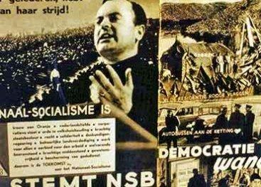 Poster Stemt NSB, democratie is wanorde
