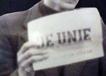Uitsnede van een colporteur van De Unie